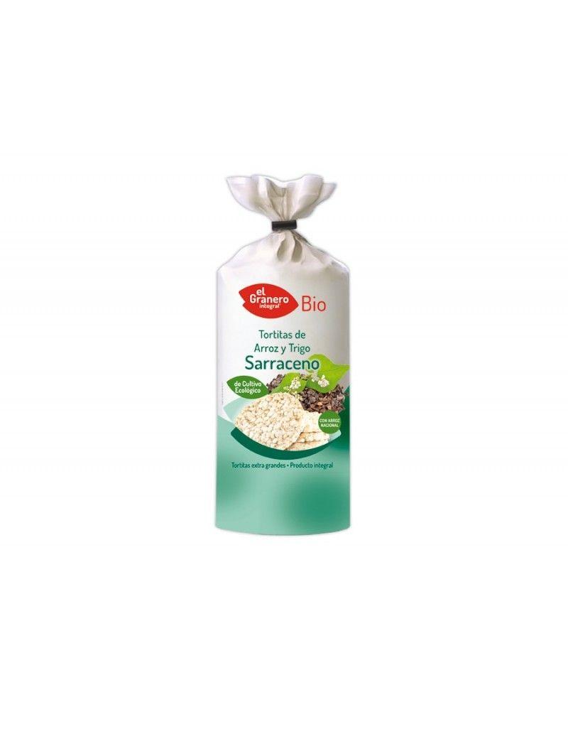 Tortitas de arroz y trigo sarraceno Bio, 100g