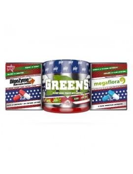 Pack DI G PRO Greens 150 gr + Probiotico 60 caps + Digezyme 60 caps