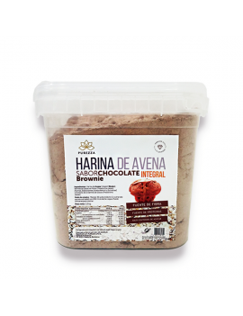 Harina de avena 100% integral PUREZZA 1.9kg