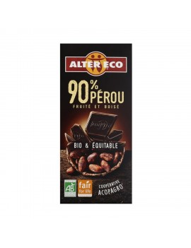 Chocolate negro 90% Perú...