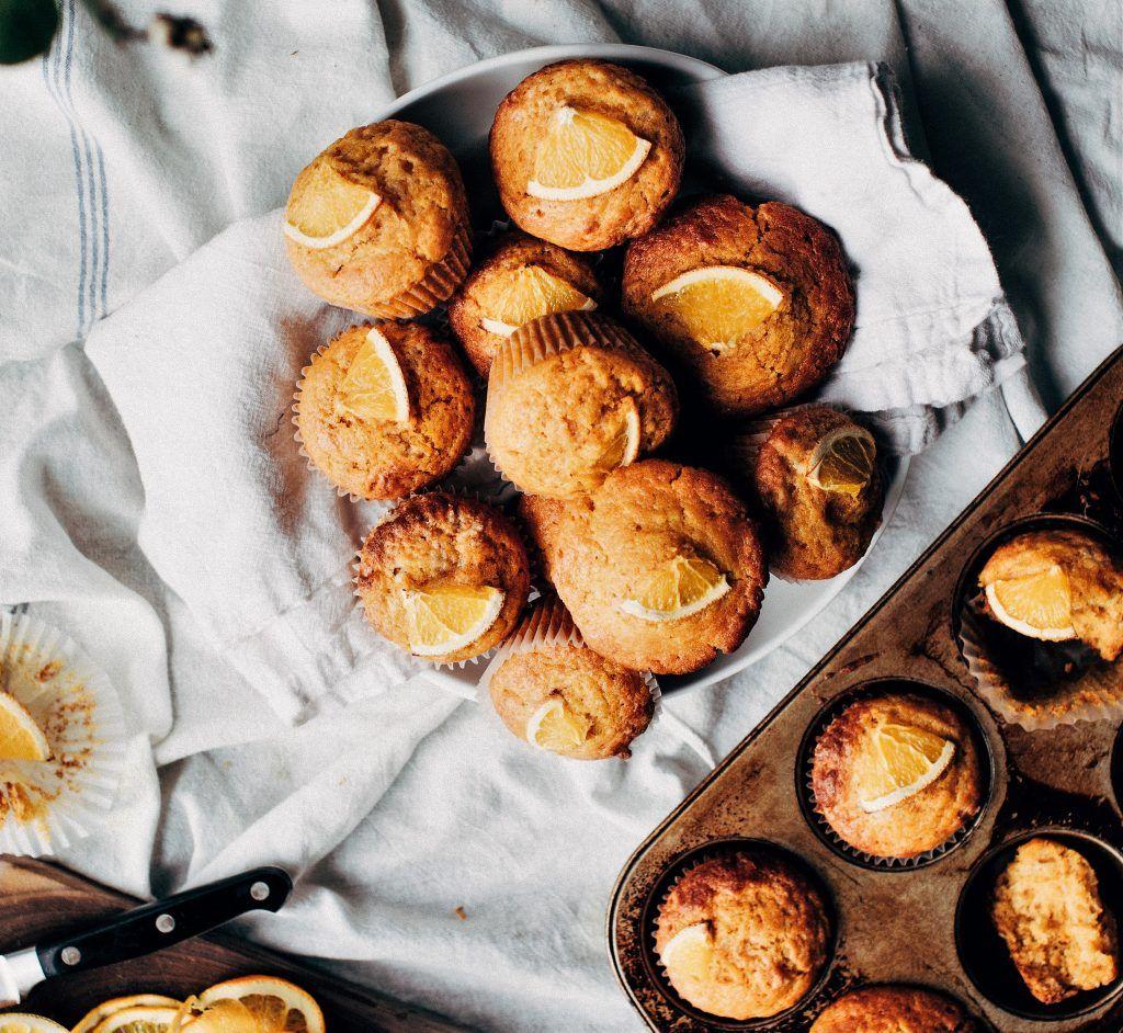 muffins de espelta y algarroba